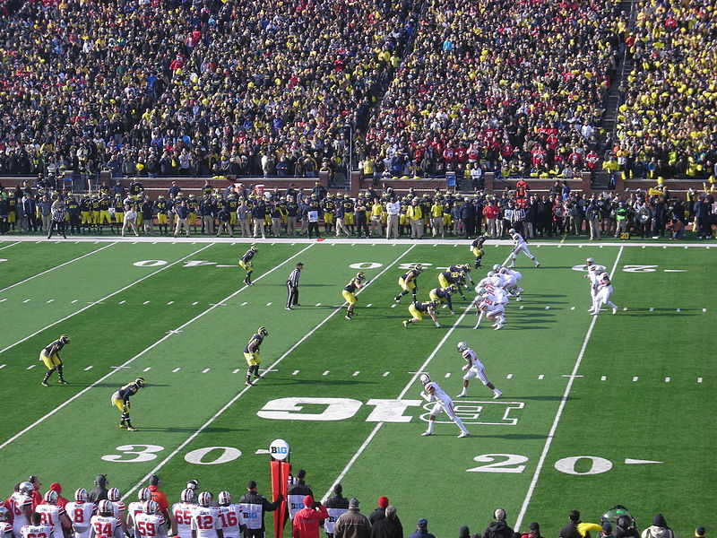 Ohio State faces Michigan in the 2013 edition of their annual rivalry game.  Photo by Michael Barera