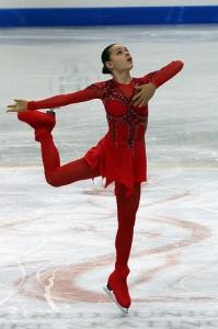 Adelina Sotnikova at the 2012 World Junior Figure Skating Championship. Photo by Wikipedia user David W. Carmichael