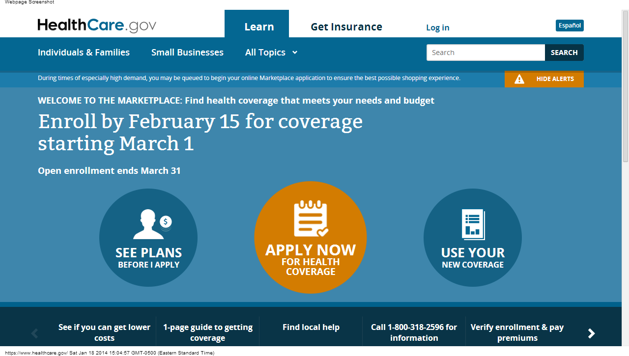 The Missing Link in the Affordable Care Act - Church & State Marketplace Healthcare Gov Site