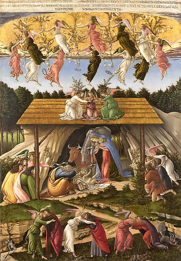 """The Mystic Nativity"" by Sandro Botticelli, circa 1500-01"