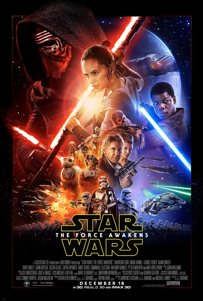 "Theatrical poster for ""Star Wars: Episode VII - The Force Awakens"""