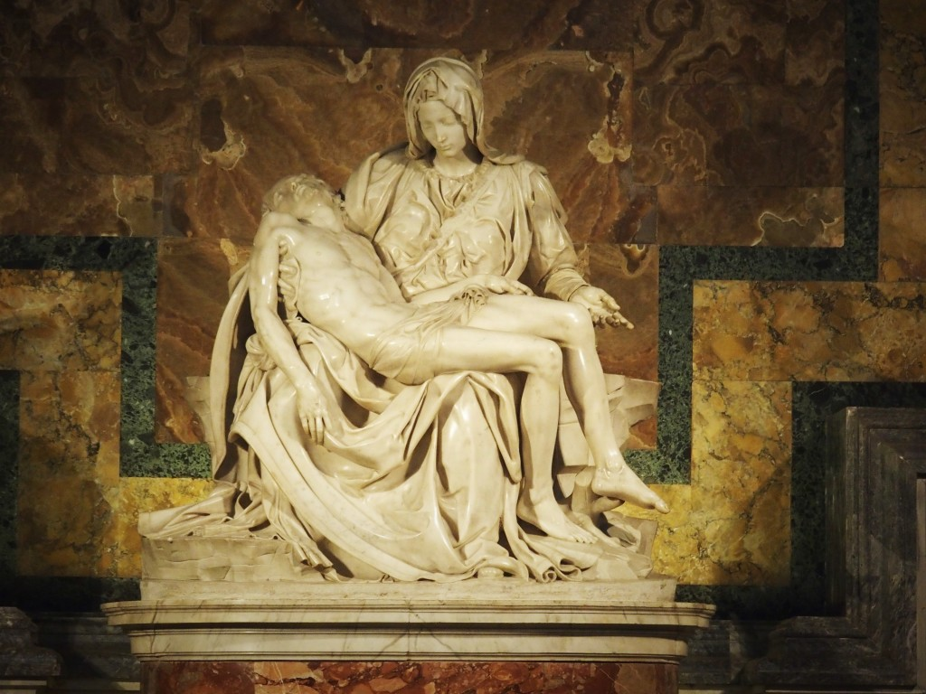Michaelangelo's famed Pietà in St. Peter's Basilica, Vatican City. (Author photograph)